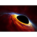 Supermassive black hole with torn-apart star (artist's impression)