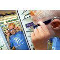 Sheffield optician welcomes inspirational child eye cancer survivor to unveil its new premises