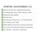 Webbtjänst för att-göra listor - nya SaveYourDay 2.0 gör dig ännu mer effektiv!