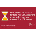 Do your Self Assessment online, don't miss the deadline