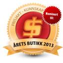 SIBA er nominert til Årets butikk 2013, Årets databutikk 2013 og Beste kundeservice 2013