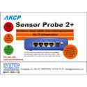 SensorProbe 2+ med SNMPv3/VPN-baserad övervakning för datorhallar och andra kritiska miljöer
