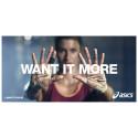 ASICS opfordrer alle sportsfolk til at deltage i udfordringen 'WANT IT MORE'