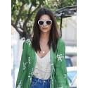 Emily Ratajkowski wearing Salvatore Ferragamo sunglasses