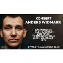 Konsert med Anders Widmark & gäster på Rival den 22 oktober!