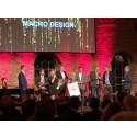 """Macro Design gör ett klassiskt hattrick och tar hem det ärofyllda priset """"Årets direktleverantör"""" för tredje året i rad på Comfort-mässan."""