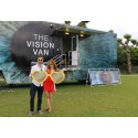 Tennis fans take advantage of 'eye love' at Wimbledon in free eye health campaign to re-deuce macular disease