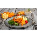 Gravad lättrökt morot - vegetariska varianter av traditionell julmat från Aviko.
