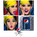 Popstjärnan Beyoncé på Pepsis nya pop-art-material