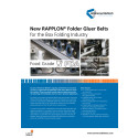 New RAPPLON® Folder Gluer Belts for the Box Folding Industry