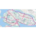 Cyklister tillåts cykla i båda riktningar på enkelriktade gator