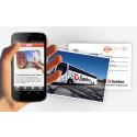 Postify och Swebus låter dig skicka riktiga vykort direkt från bussen