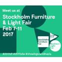 Vi ställer ut på Stockholm Furniture & Light Fair