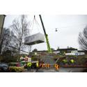 Byggandet av HSB Living Lab nu igång – och klart om två veckor.