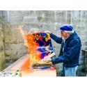 Piene erhellt die Welt!  Augsburger GALERIE NOAH zeigt Feuergouachen, Temperabilder, Grafiken und Keramiken des ZERO-Mitbegründers Otto Piene