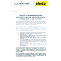 AccorHotels and Hertz partnership