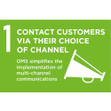 Contact customers via their choice of channel