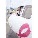 Prisbelønnede piloter flyver pink