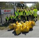 E.ON valde Städa Sveriges ungdomar för vårstädning i Norrköping
