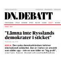 Öka Sveriges stöd till den ryska demokratirörelsen!