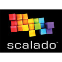Scalado's logo with black background