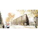 HSB vinner markanvisningstävling om att bygga trähus vid Gibraltargatan i Göteborg
