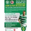 Sista chansen att anmäla till Celtic FC/HuFF Soccer Academy 2017.