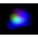 Färgkodad bild som kombinerar data från olika teleskop för galaxen SXDF-NB1006-2