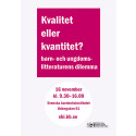 Kvalitet eller kvantitet? Heldag på Svenska barnboksinstitutet 16 november