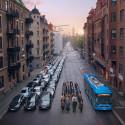 Hur många bilar får plats i en buss?