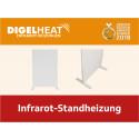 Mobile Wärme: die neue DIGEL HEAT Infrarot-Standheizung