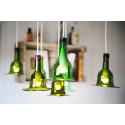 Lampskärmar av vinflaskor