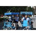 Rullande reseledarservice i Bulgarien: Tredje sommaren med cykelbil - för miljöns skull