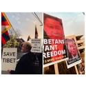 Stille demonstrasjon - 10. mars 2018. Tibet uprising day.