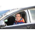 Thierry Neuville testkör nya Hyundai i30 i Arjeplog.