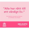 Delicato och stiftelsen Einar Belvén fördubblar sitt engagemang och skänker två miljoner kronor till Sverige för UNHCR