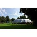 Specialdesignad paviljong till Opportunity Space Festival