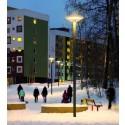 Ett exempel på ett trygghetsprojekt i Albyparken i Botkyrka kommun, ljusdesign: Olsson & Linder