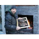Björn bygger bo – Murad eldstad med rök