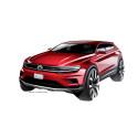 Sjusitsiga Volkswagen Tiguan presenteras i Detroit