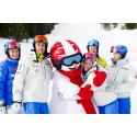 Svenska alpina skidstjärnorna möter barn och ungdomar under Sälen Winter Games
