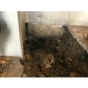 Spricka på inkommande ledning till Fillan avloppsreningsverk