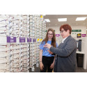 Teen eye cancer survivor opens new Cirencester optician