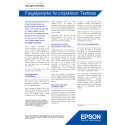 Epson CLO - Faktablad: Testdata for projektorer