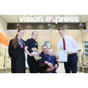 Cancer champion Kaydan rewarded at Bradford optician