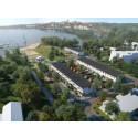 Inbjudan till första spadtag för radhusen Frösjö strand i Gnesta