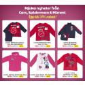 Barnklädesnyheter från Cars, Spiderman och Mimmi | Höstkampanj på alla varma vantar, mössor och halsdukar till alla barn | Priskampanj på Brio träjärnväg och sällskapsspelet Tribond på Lekmer.se