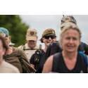 Marsch för veteraner passerar genom Söderhamn och Hudiksvall