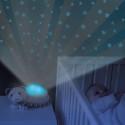 Kattungen Kiki förvandlar ditt barns rum till en magisk stjärnhimmel medan den spelar lugnande melodier.