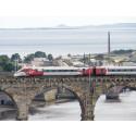 Virgin Azuma arrives in Edinburgh in preparation for driver training programme